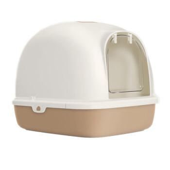 【1つ買います。6つ送ります。】TOMCAT猫砂鉢は全部閉鎖されています。脱臭防止特Lセイズ二階閉鎖式猫トイレ便器猫用品単層(コーヒー)Mセイズ(長幅49.5*38*39.1 cm)