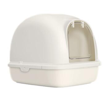 【1つ買います。6つ送ります。】TOMCAT猫砂鉢は全部閉鎖されています。脱臭防止特Lセイズ二階閉鎖式猫トイレ便器猫用品二階(白)Lセイズ(長幅57.9*44*42 cm)