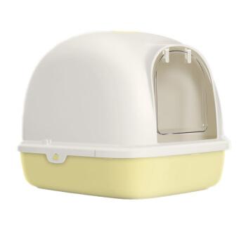 【1つ買います。6つ送ります。】TOMCAT猫砂鉢は全閉塞防臭特Lサズ二階閉鎖式猫トイレ便器猫用品単層(抹茶)Mサズ(長幅49.5*38*39.1 cm)
