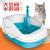 猫砂盆特Lサズ猫トイレ猫用品防外挂半闭锁オープ式Lサズ便全猫砂盆Lサズ深カレー