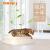 ペットの猫の砂のたらいの半分は閉鎖して猫のトイレの特Lサズの2層のSサズの猫の大便のたらいの松木の猫の砂のたらいの猫の用品の南極の雪の绒の白色の単一層のSサズ