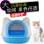 いたずらっ子猫の砂钵の半闭锁式猫トイレ猫の砂钵猫用品猫の糞钵はスポットライズブルーです。