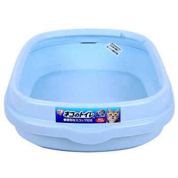 アリス猫砂盆半閉塞ペット猫トイレ用品青-Mフリーサイズ