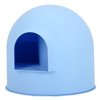PIDAN雪屋Lサズ猫砂盆カバ式猫トイレ単層防備猫砂盆猫便器水色