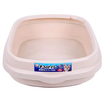 アリス猫砂盆半閉塞ペット猫トイレ用品ピンク-Mフリーサイズ