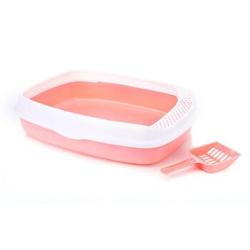 猫の砂钵の半闭锁式Lサズ猫の砂钵の猫トイレに通用する猫の便钵の猫用品にスップズ猫の砂钵+豆腐猫砂専用シャベルをプレゼントします。