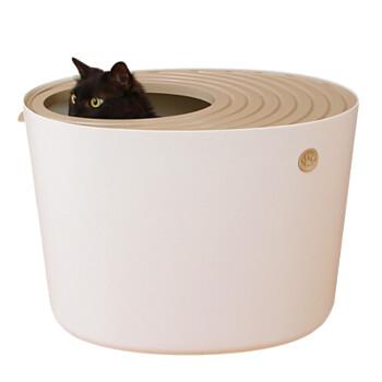 アリス立体式のウォームは全閉塞猫砂盆トイレ防帯砂室内猫トイレ象牙白-LサズPUNT 530