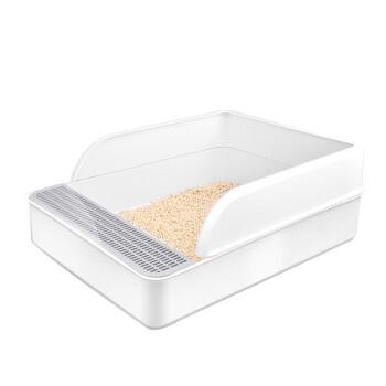ハーンハット猫砂盆Lサズ半闭锁式猫トイレSセイズ猫の粪盆猫沙盆猫用品方形猫砂盆Lセイズ