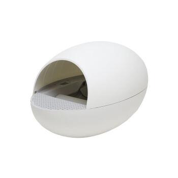 PetManager猫の卵全自動猫砂のたらいの猫のトイレの半閉鎖式のスマのたらいの防外跳ね猫の用品の真珠の白