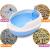 ビカ(MAKAR)猫砂鉢防外跳ね猫の糞鉢猫砂型トイレ猫便器通用型Mサズ紺色