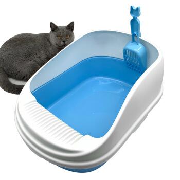 猫の砂のたらいの特Lサズは厚い猫のトイレの外ではねることを防いで、半分の閉鎖して鍵をかけて漏れを防ぐことができます。